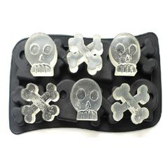 free shipping new Skull Mold Silicone Mold Cooking Tools Cookie Cutter Ice Molds Ice Trays Ice Cream Tools Ice Cube Tray