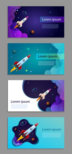 Find Vector Space Banner Business Card Rocket stock images in HD and millions of other royalty-free stock photos, illustrations and vectors in the Shutterstock collection. Free Banner Templates, Powerpoint Design Templates, Space Illustration, Graphic Design Illustration, Rocket Design, Best Banner, Bussiness Card, Presentation Layout, Web Design Inspiration