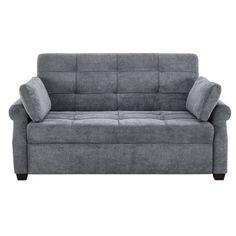 Serta Haiden Queen Sofa Bed, Gray - Walmart.com - Walmart.com Grey Sofa Bed, Futon Sofa, Sofa Sleeper, Queen Size Sofa Bed, Queen Size Bedding, Pull Out Sofa Bed, Cozy Sofa, Comfortable Couch, Convertible Bed