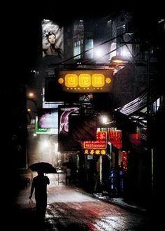 Christophe Jacrot: Nuit de Chine Fertig-Bild 50x70 Wandbild modern Städte China