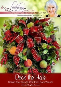 Learn how to make a beautiful Christmas wreath with this step by step video tutorial!