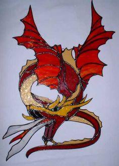 Flying fire breathing legless dragon   Dragons   Pinterest