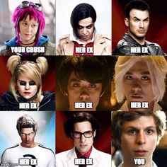 Scott Pilgrim vs the World. - So Funny Epic Fails Pictures Scott Pilgrim Movie, Pilgrim Vs The World, Bryan Lee O Malley, Arrow Tv Shows, Ramona Flowers, Michael Cera, Best Funny Pictures, Funny Pics, Funny Videos