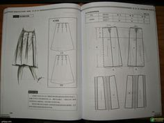 Design and style skirte--etekler - modelist kitapları Pola Rok, Modelista, Skirt Patterns Sewing, Book And Magazine, Pattern Drafting, Pants Pattern, Pattern Skirt, Fashion Sewing, Sewing Techniques