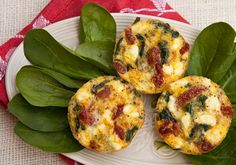 Italian Food Forever » Mini Frittata with Spinach, Sun-dried Tomatoes & Goat Cheese