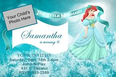 Custom Disney The Little Mermaid  Birthday Invitations by Katoriz, $13.75