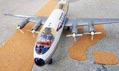 60s TOMIYAMA製 SASスカンジナビア航空のブリキ飛行機