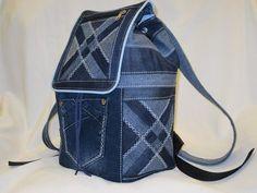 Jean Backpack, Backpack Bags, Patchwork Bags, Quilted Bag, Mochila Jeans, Sac Week End, Denim Handbags, Backpack Pattern, Denim Crafts