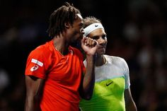 Monfils and Nadal as doubles partners at a 2016 exhibition #Monfils #Nadal #tennis