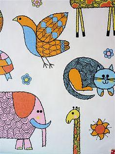 Original 70s children's wallpaper - seller Jane Foster