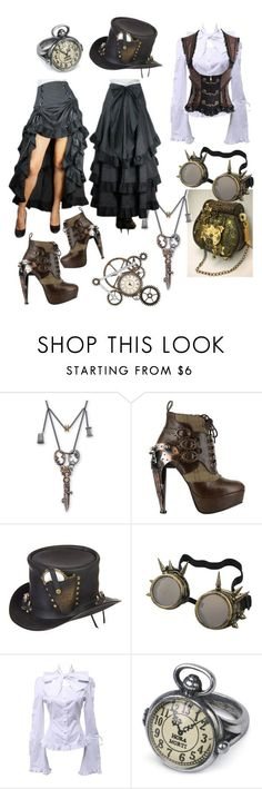 """Steampunk"" by iidapollari ❤ liked on Polyvore featuring HADES and Overland Sheepskin Co.                                                                                                                                                                                 More"