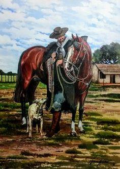 Mexican Revolution, Arte Country, Cowboy Art, Rio Grande Do Sul, The Beautiful Country, Western Art, Folklore, Cowboys, Vintage Art