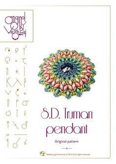 Pendentif Truman SD.    Dans le tutoriel, vous trouverez :  Détaillée étape par étape les instructions de perles avec des images  Vous recevrez