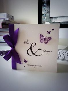 Who doesn't like butterflies and the color purple? Love this Quinceanera Butterfly Invitation Idea! http://www.quinceanera.com/invitations-for-quinceaneras/?utm_source=pinterest&utm_medium=social&utm_campaign=category-invitations-for-quinceaneras