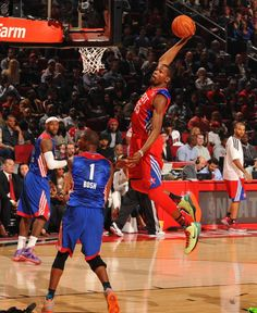 Love seeing KD dunk on Bosh while James looks on! 2013 All-Star Weekend from Houston