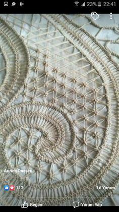 Romanian Lace, Point Lace, Crochet Tablecloth, Needle Lace, Irish Lace, Lace Making, String Art, Embroidery, Pattern