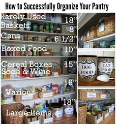 Tips and Ideas for Organizing Your Pantry | DIY for Life ~ this is great! Now to find a pantry big enough!