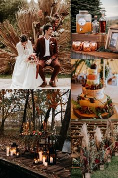 rust fall dusty orange wedding color ideas