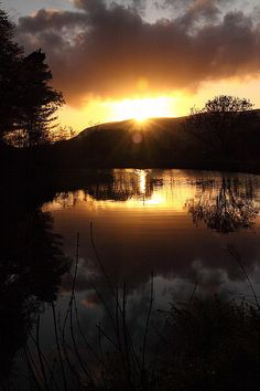 sunrise on the loch Scotland