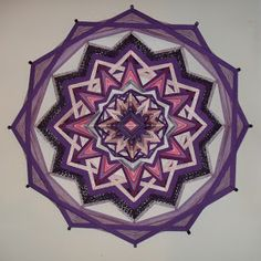 Mandalas Olho de Deus: Mandala Violeta