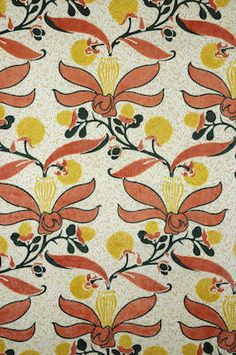 "Charles Voysey - ""Lemon Tree"" decorative fabric (1889)"