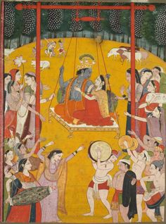 Paramchaintanya Men — Hindola Raga, c. 1790-1800 Northern India,...