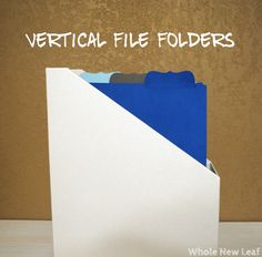 Free Cut Files to create your own Verticle File Folders a la Martha Stewart!  (Courtesy of Beth from Whole New Leaf)