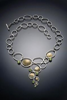 Necklace    Lori Gottlieb.  Gold, Silver, & Stone Necklace