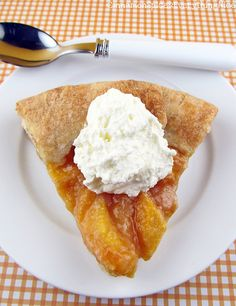 Peaches and Cream Galette | Cinnamon Spice & Everything Nice