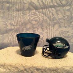 NFL MINI PLASTIC HELMET (2010) & NFL Plastic SHOT CUP (2009) Philadelphia Eagles #PhiladelphiaEagles