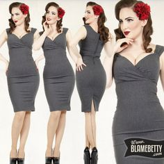 Sexy, sophisticated and old Hollywood glam! #blamebetty #curves #pinupfashion