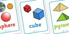 3D Shape Posters with Everyday Examples - In the environment, Shape poster, Shape flashcards, Shape recognition, Shapes in the environment