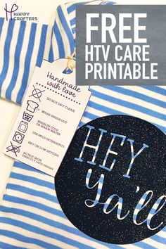 Wondering how to wash and care for your shirts that have HTV on them? This laundering guide has 7 tips for caring and washing for your heat transfer vinyl products. Download the free printable care guide so you can help your customers care for their vinyl products.