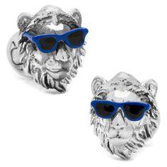Party Animal Lion Cufflinks