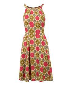 This Beige Circle Louisa Sleeveless Dress is perfect! #zulilyfinds