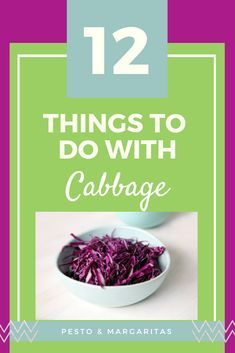 Cabbage is one of those ingredients that just hands around in the background, being green or purple and nutritious. So let's celebrate the cabbage with its very own roundup! Here are 12 things to do with cabbage to help make it more interesting! Cabbage Soup Recipes, Low Carb Chicken Recipes, Beef Recipes, Easy Vegetable Recipes, Vegetable Dishes, How To Cook Noodles, Dinner Salads, Perfect Food, Different Recipes