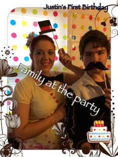 Mommy Megan @ Justin 1st birthday party with her Brother Allen