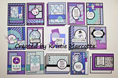 The best things in life are Pink.: Doodlebug's Frosty Friends - 21 cards from one paper pad Card Making Inspiration, Making Ideas, 21 Cards, Winter Karten, One Sheet Wonder, Handmade Card Making, Card Patterns, Cards For Friends, Card Tutorials