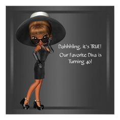 17 best funny birthday party invitations images on pinterest in diva womans african american birthday party invitation filmwisefo