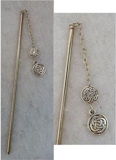 Silver Celtic Knot Charm Hair Stick New Shawl Pin Accessories Jewelry Fashion #Handmade #HairStick