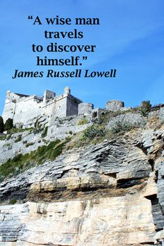 """A wise man travels to discover himself.""  James Russell Lowell – Image of BYRON'S GROTTO in PORTO VENERE, ITALY by F&J McGinn -- Love travel and creative expressions?  Explore how-to strategies for publishing a fusion of your travel, writing, and photography at http://www.examiner.com/article/publish-a-creative-fusion-of-your-travel-writing-and-photography"