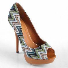 Journee Collection Lamb Platform Peep-Toe High Heels - Women