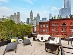 A gorgeous private terrace in Tribeca