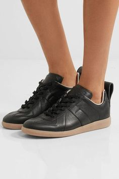Maison Margiela - Leather Sneakers - Black - IT37