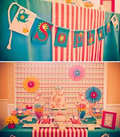 tea party/alice in wonderland- lots of good ideas for decor