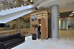 Sleepbox - Modular mobile hotel room for airports, train stations, exhibition centres etc