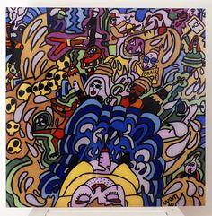 Tableau n°10 Original imprimé Plexiglas 60x60cm : Peintures par ivan-prod