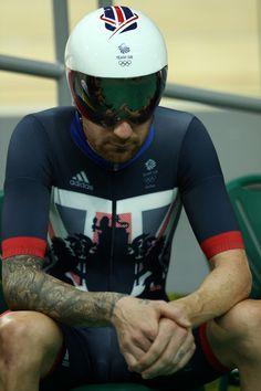 Bradley Wiggins Men's Team Pursuit qualifying Olympic Velodrome Rio 2016
