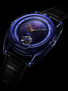 What a dial! De Bethune DB28 Kind of Blue Tourbillon Meteorite boasting a dial with a star studded sky in blued hand-polished iron meteorite with white gold stars. Soon on our site.   www.ablogtowatch.com