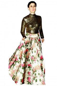Multi Color Semi Stitched Anarkali Salwar Kameez